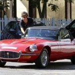 Harry in his Jaguar E type