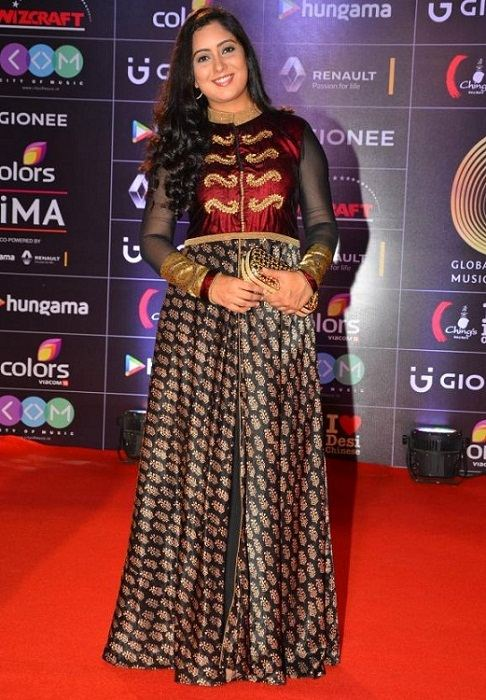 Harshdeep Kaur at an award show