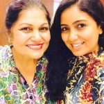 Harshdeep Kaur with her mother