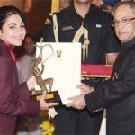 Heena Sidhu with Arjuna Award
