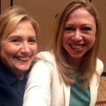 Hillary Clinton with daughter Chelsea Clinton