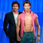 Hrithik Roshan With His Wax Statue