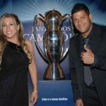 Hulk with his wife Iran Souza