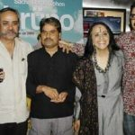 Ila Arun with her brothers Piyush (second from left) and Prasoon (extreme right)