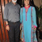 Ila Arun with her husband