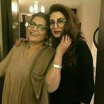 Iman with her mother Humera Ali