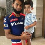 Imran Tahir with his son