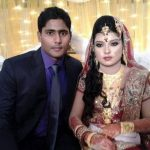 Imrul Kayes with his wife