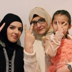 Iqbal Khan' sister with her daughters Sarah and Haajra
