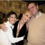 Iulia Vantur with her parents