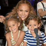 JLo with her daughter and son