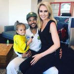 JP Duminy with his wife and daughter