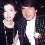 Jakckie Chan with his ex-lover Elaine Ng Yi-Lei