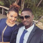 Jason Holder with his girlfriend