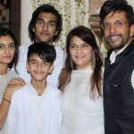 Javed Jaffery with her Sons and daughter