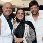 Javed Jaffrey with his Mother Begum Jaffrey and brother Naved Jaffrey