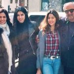 Khushi Kapoor with her parents and sister Jhanvi Kapoor