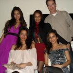 Jiah Khan with her mothers and sisters