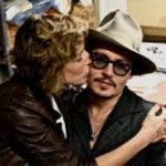 Johnny Depp with his girlfriend Kiley Evans