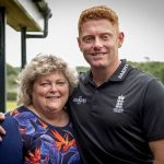 Jonny Bairstow with his mother Janet Bairstow