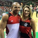 Jose Aldo with wife Vivianne Pereira