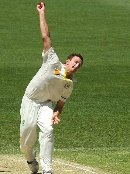 Josh Hazlewood bowling