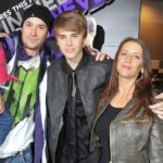 Justin Bieber With His Father Jeremy Jack Bieber And Mother Pattie Mallette