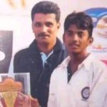 KL Rahul childhood pic with his coach Samuel Jayaraj