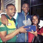 Kagiso Rabada with Parents