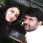 Kajal Nishad with her husband Sanjay Nishad
