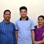 Kalpit Veerwal with his parents
