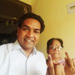 Kapil Mishra with his mother