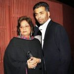 Karan Johar with his mother