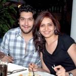 Karishma Tanna with Bappa Lehri