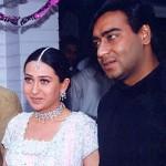 Karisma Kapoor with Ajay Devgan