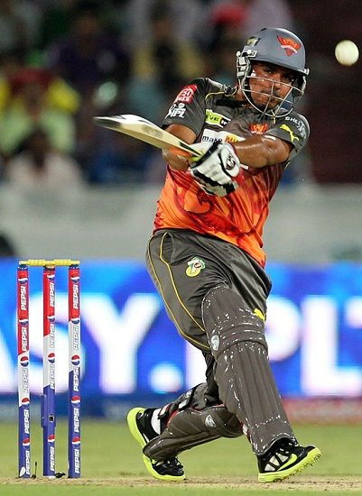 Karn Sharma batting