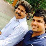Karn Sharma with his father