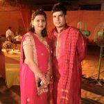 Karn Sharma with his wife