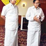 Karti Chidambaram with his Father