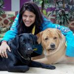 Karuna Pandey with dogs