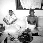 Kasturba Gandhi with Mahatma Gandhi