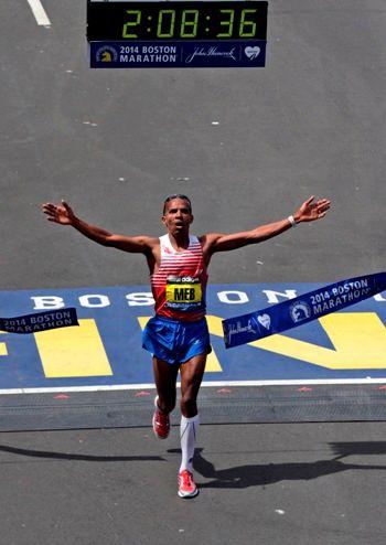 Keflezghi at the Boston Marathon