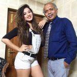 Ketika Sharma with her Father