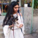 Khushi Kapoor, a dog lover