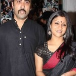 Konkona Sen Sharma with her husband