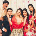 Krystle with her father, mother, brother and sister-in-law