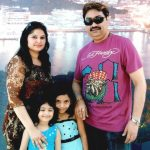 Kumar Sanu with his wife and daughters