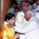 Lata Mangeshkar With Bharat Ratna