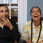 Lilly Singh with her sister Tina Singh