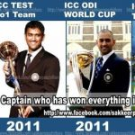 MS Dhoni Trophies for Indian team